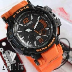 Jam tangan D Ziner DZ-8090 Karet Orange Original
