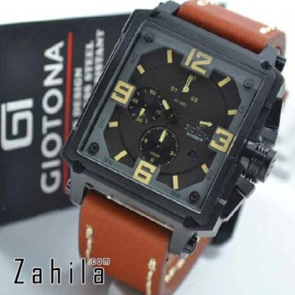 Jam tangan Giotona GT 7399 Black Brown Leather