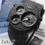 Jam tangan Alfa Four Time 047 Full Black