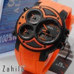 Jam tangan Alfa Four Time 047 Full Orange