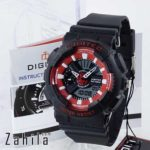 Jam tangan Digitec DG-2063T Black Red Wanita