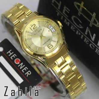 Jam tangan Hegner HW1295 Date All Gold for Ladies