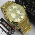 Jam tangan Hegner HW1295 Date All Gold for Men