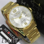 Jam tangan Hegner HW1295 Date Gold White for Men