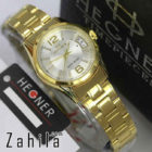 jam tangan Hegner HW1295 Date Gold White for Ladies terlaris