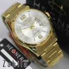 jam tangan Hegner HW1295 Date Gold White for Men terlaris